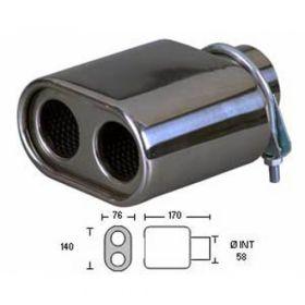 Uitlaatsierstuk RVS 538B4-60 - Passend 42-56mm